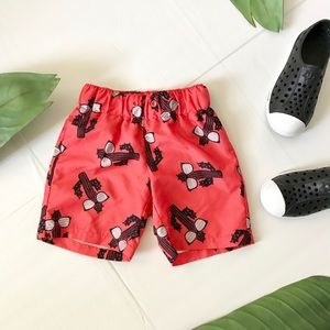 City Streets Cactus Print Swim Trunks- Boys